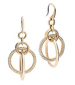 Michael Kors® Goldtone Pave Drop Earrings
