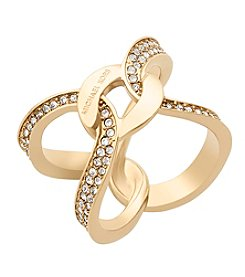 Michael Kors® Goldtone Interlocking Pave Ring