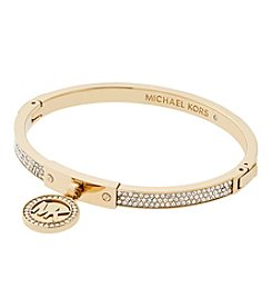 Michael Kors® Goldtone Pave Push Button Bracelet