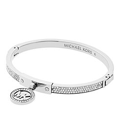Michael Kors® Silvertone Pave Push Button Bracelet