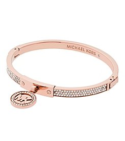 Michael Kors® Rose Goldtone Pave Push Button Bracelet