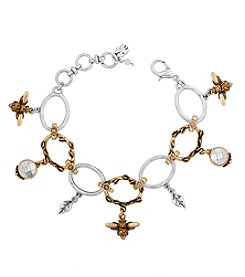 Lucky Brand® Two Tone Bee Charm Bracelet