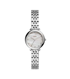 Fossil® Women's Jacqueline Mini Silvertone Watch