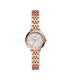 Fossil® Women's Jacqueline Mini Rose Goldtone Watch