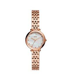 Fossil® Women's Jacqueline Mini Rose Goldtone Watch