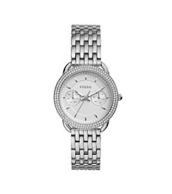 Fossil® Women's Tailor Silvertone Watch