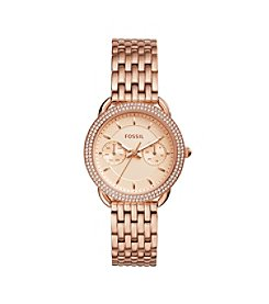 Fossil® Women's Tailor Rose Goldtone Watch