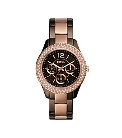 Fossil® Women's Stella Dark Brown Watch