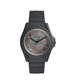 Fossil® Men's Poptastic Watch In Grey With Silicone Strap