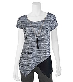 A. Byer Space Dyed Asymmetrical Top