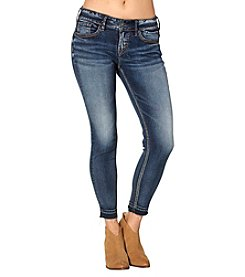 Silver Jeans Co. Suki Dark Wash Mid Rise Skinny Ankle Jeans