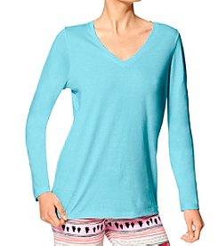 HUE® V-Neck Pajama Top