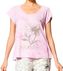 HUE® Floral Printed Top
