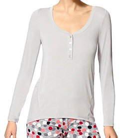 HUE® Henley Pajama Top
