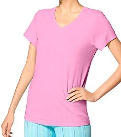 HUE® V Neck Pajama T- Shirt