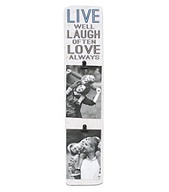 Fetco® Maloy Live Laugh Love Clip Photo Frame