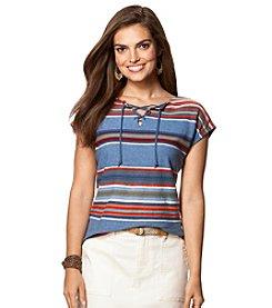 Chaps® Short Sleeve Fiesta Stripe Sweater