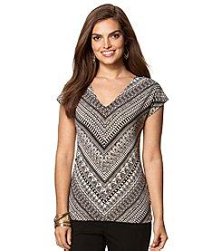 Chaps® Stripe Pattern Knit Top