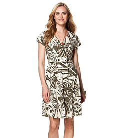Chaps® Franklin Leaf Pattern Dress