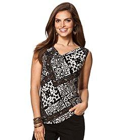 Chaps® Patchwork Pattern Knit Tank Top