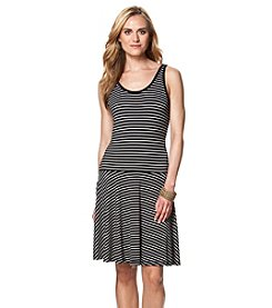 Chaps® Drapey Oleander Stripe Sleeveless Casual Dress