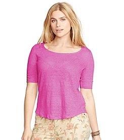 Lauren Ralph Lauren® Plus Size Linen Jersey Tee