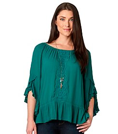 Democracy Flamenco Woven Top