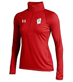 Under Armour® NCAA® Wisconsin Badgers Women's Stripe Half Zip Pullover