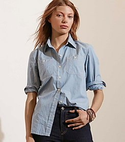 Lauren Ralph Lauren® Striped Cotton Dobby Shirt