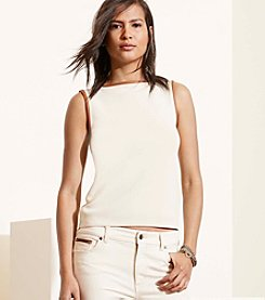 Lauren Ralph Lauren® Contrast-Trim Sleeveless Top