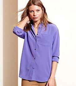 Lauren Ralph Lauren® Silk Long-Sleeve Shirt
