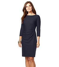 Chaps® Chevron-Knit Dress