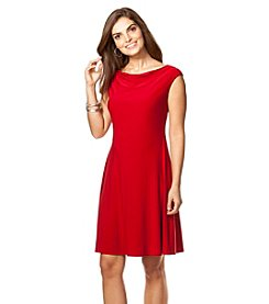 Chaps® Fit-And-Flare Jersey Dress