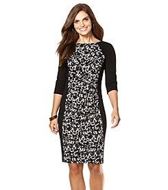 Chaps® Printed Crepe Dress