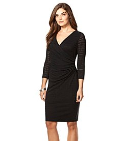 Chaps® Chevron-Knit Sheath Dress