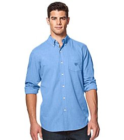 Chaps® Men's Big & Tall Long Sleeve Solid Easy-Care Woven Button Down Shirt