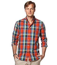 Chaps® Men's Big & Tall Long Sleeve Plaid Easy-Care Woven Button Down Shirt