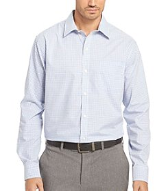 Van Heusen® Men's Big & Tall Mini Check Long Sleeve Traveler Button Down Shirt