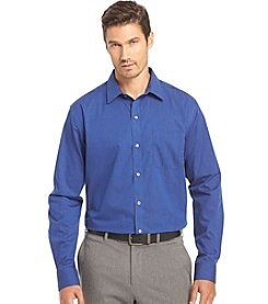 Van Heusen® Men's Big & Tall Long Sleeve Solid Striped Traveler Button Down Shirt