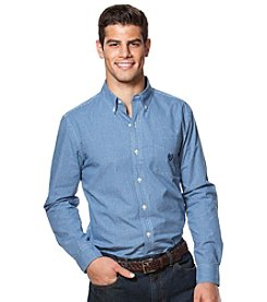 Chaps® Men's Big & Tall Long Sleeve Mini Check Easy-Care Button Down Shirt