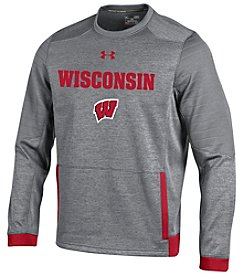 Under Armour® NCAA® Wisconsin Badgers Men's Momentum Crew Neck Sweatshirt
