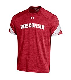 Under Armour® NCAA® Wisconsin Men's Logo Inset Short Sleeve Tee
