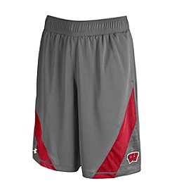 Under Armour® NCAA® Wisconsin Badgers Men's HeatGear® Microthread Shorts
