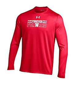Under Armour® NCAA® Wisconsin Badgers Men's Forever Forward Long Sleeve Tee