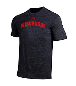 Under Armour® NCAA® Wisconsin Badgers Men's Logo Short Sleeve Tee