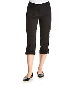Relativity® Metal Button Capri Pants