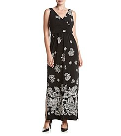 Chaps® Black And Cream Ameilie Maxi Dress