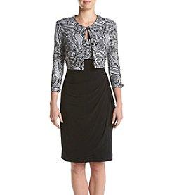 MSK® Black And White Paisley Print Jacket Dress
