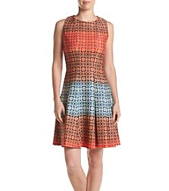 Julian Taylor Allover Patterned Dress