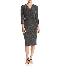 MSK® Black And Silver Knit Dress With Jacket